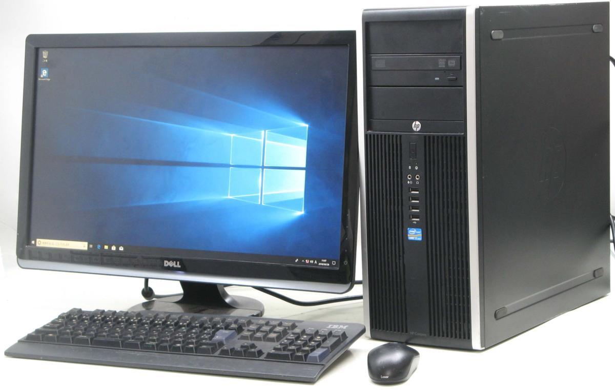 中古デスクトップパソコン HP Compaq 8300Elite CMT-3770■24液晶セット(ヒューレット・パッカード Windows10 Corei7 グラボ ビデオカード DVDスーパーマルチドライブ)【中古】【中古パソコン/中古PC】