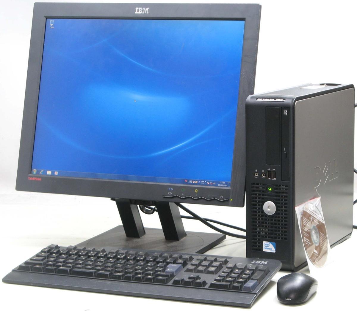 中古デスクトップパソコン DELL Optiplex 780-C2200SF■20液晶セット(デル Windows7)【中古】【中古パソコン/中古PC】
