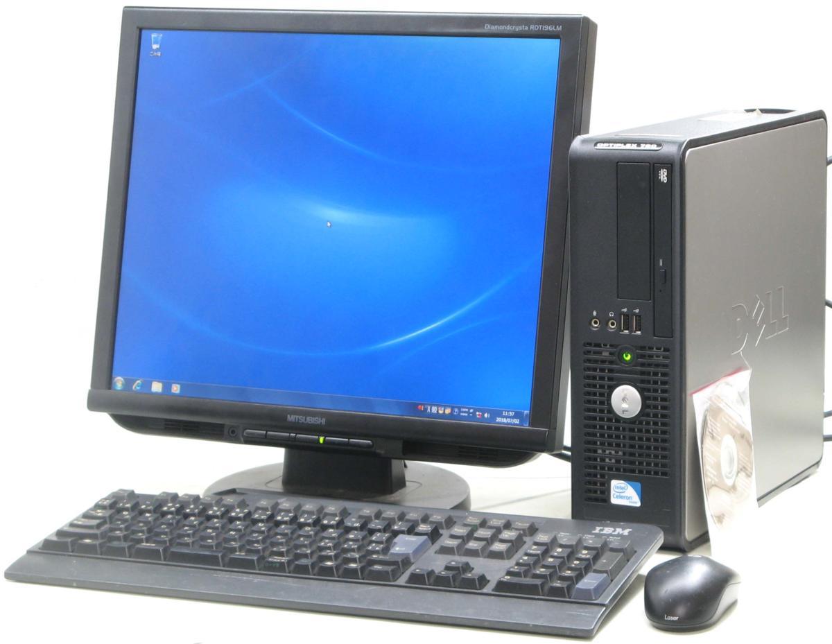 中古デスクトップパソコン DELL Optiplex 780-C2200SF■19液晶セット(デル Windows7)【中古】【中古パソコン/中古PC】