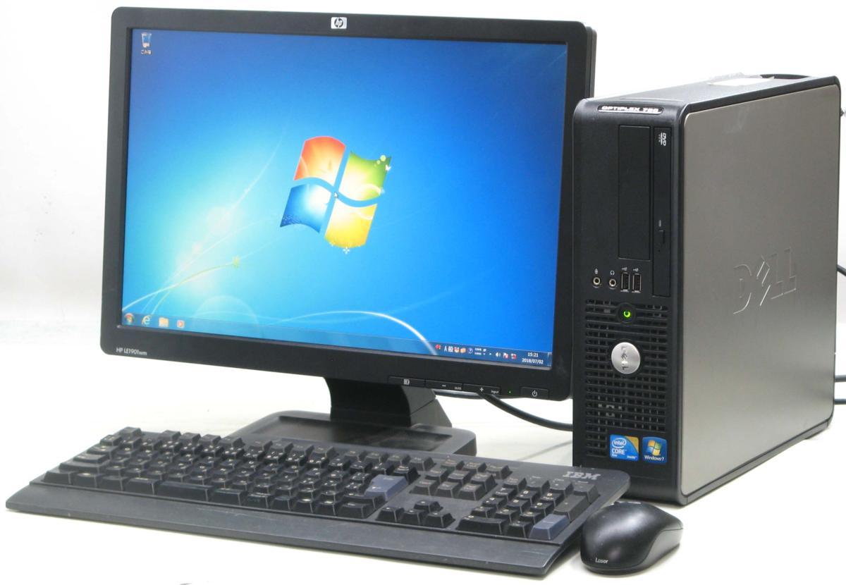 中古デスクトップパソコン DELL Optiplex 780-E7500SF■19W液晶セット(デル Windows7)【中古】【中古パソコン/中古PC】