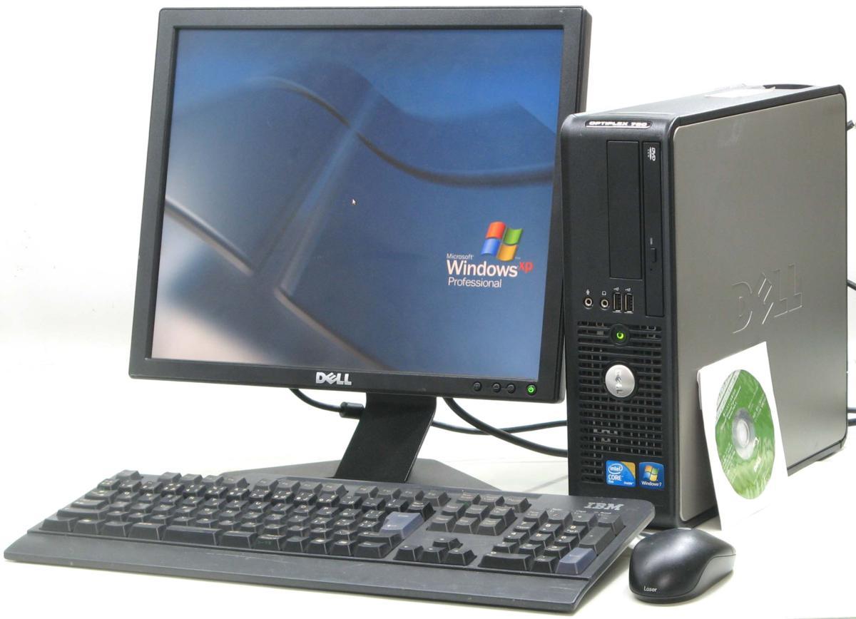 中古デスクトップパソコン Optiplex 780-E7500SF■17液晶セット(デル WindowsXP)【中古】【中古パソコン/中古PC】