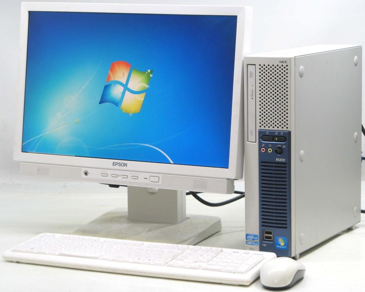 中古デスクトップパソコン NEC PC-MK28HEZCD■19W液晶セット(NEC Windows7 Corei7)【中古】【中古パソコン/中古PC】