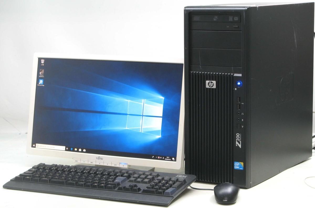 中古デスクトップパソコン HP Z200 Workstation■20W液晶セット(ヒューレット・パッカード Windows10 Corei5 グラボ ビデオカード DVDスーパーマルチドライブ)【中古】【中古パソコン/中古PC】