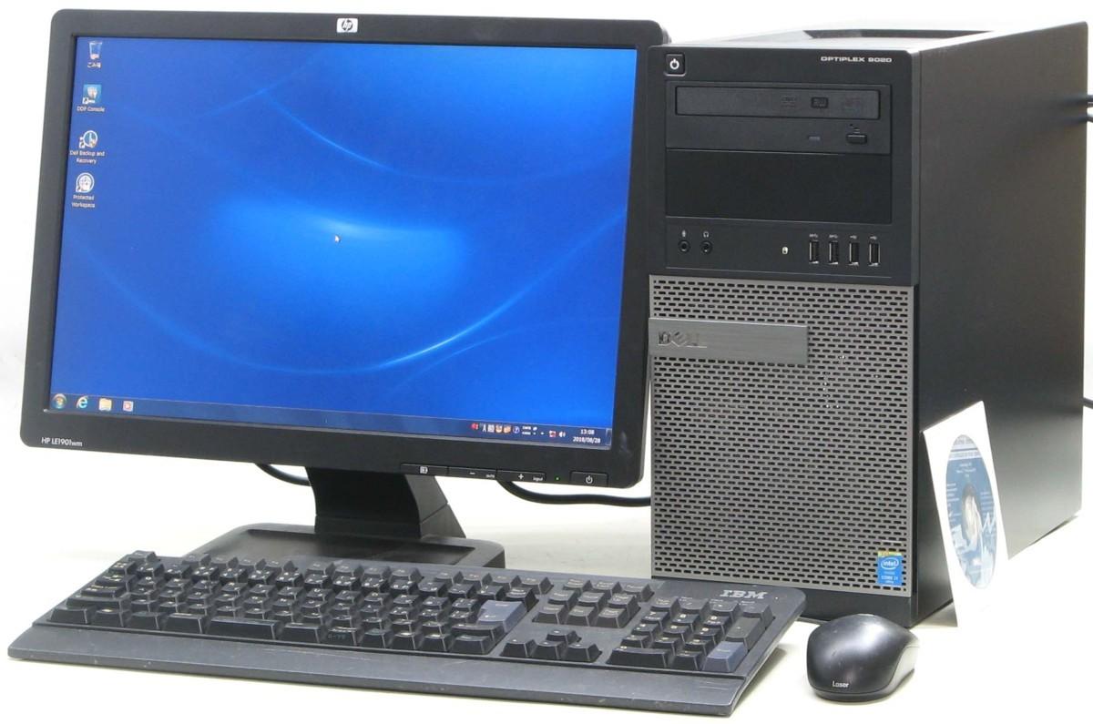 中古デスクトップパソコン DELL Optiplex 9020-4790MT■19W液晶セット(デル Windows7 Corei7 グラボ ビデオカード DVDスーパーマルチドライブ)【中古】【中古パソコン/中古PC】