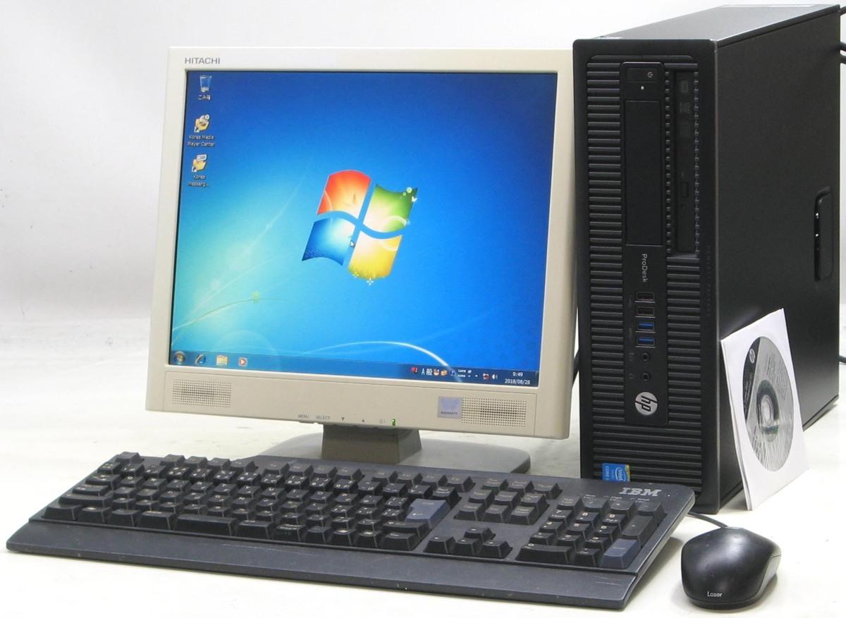 中古デスクトップパソコン HP Prodesk 600 G1 SFF 4590■15液晶セット(ヒューレット・パッカード Windows7 Corei5 DVDスーパーマルチドライブ)【中古】【中古パソコン/中古PC】