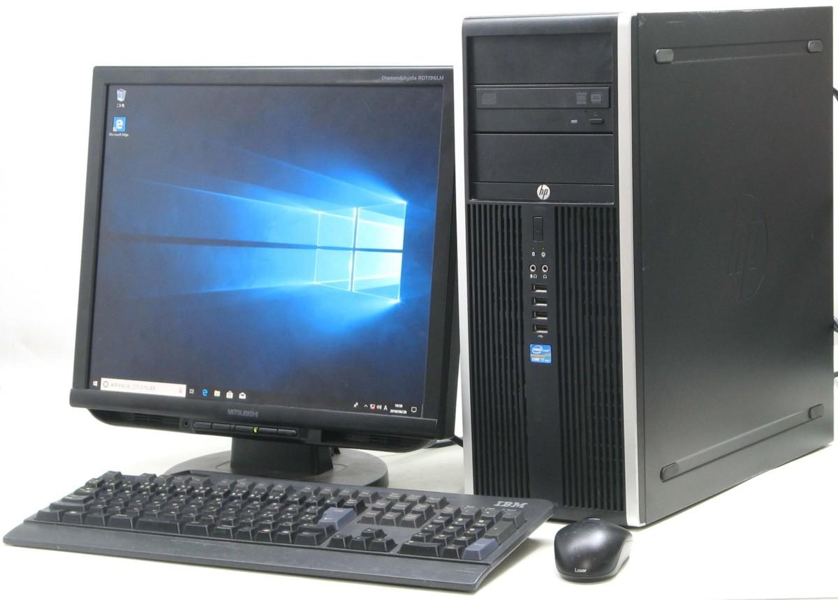 中古デスクトップパソコン HP Compaq 8300Elite CMT-3770■19液晶セット(ヒューレット・パッカード Windows10 Corei7 グラボ ビデオカード GeForce HDMI出力端子 DVDスーパーマルチドライブ)【中古】【中古パソコン/中古PC】