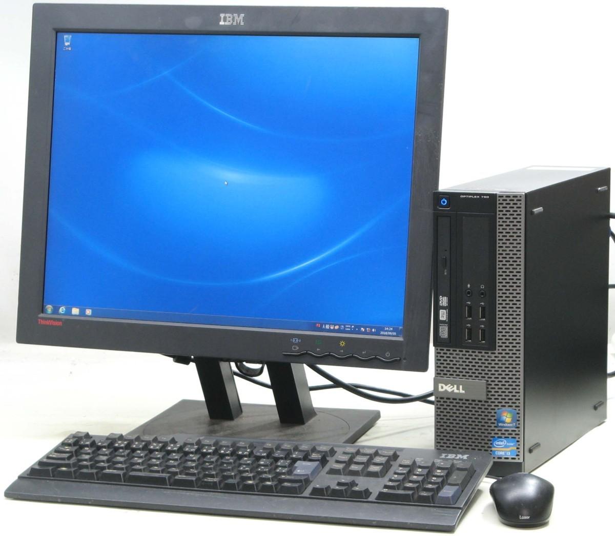 中古デスクトップパソコン DELL Optiplex 790-2120SF■20液晶セット(デル Windows7 Corei3 DVDスーパーマルチドライブ)【中古】【中古パソコン/中古PC】