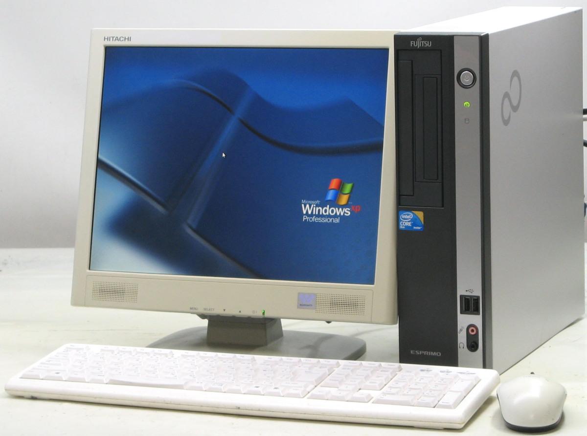 中古デスクトップパソコン 富士通 ESPRIMO D550/B FMVDF2A0E1■15液晶セット(富士通 WindowsXP)【中古】【中古パソコン/中古PC】