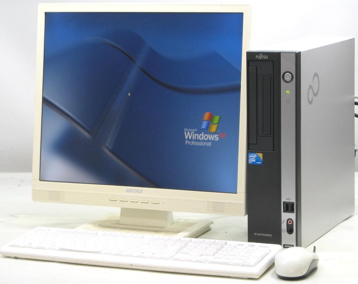 中古デスクトップパソコン 富士通 ESPRIMO D550/B FMVDF2A0E1■19液晶セット(富士通 WindowsXP)【中古】【中古パソコン/中古PC】