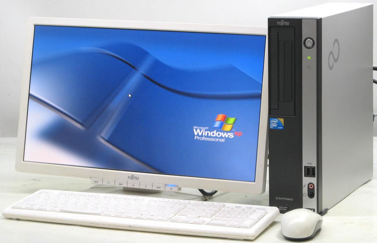 中古デスクトップパソコン 富士通 ESPRIMO D550/B FMVDF2A0E1■20W液晶セット(富士通 WindowsXP)【中古】【中古パソコン/中古PC】