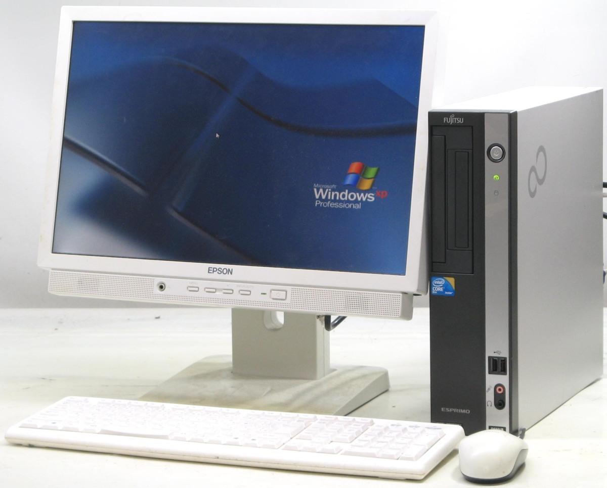中古デスクトップパソコン 富士通 ESPRIMO D550/B FMVDF2A0E1■19W液晶セット(富士通 WindowsXP)【中古】【中古パソコン/中古PC】