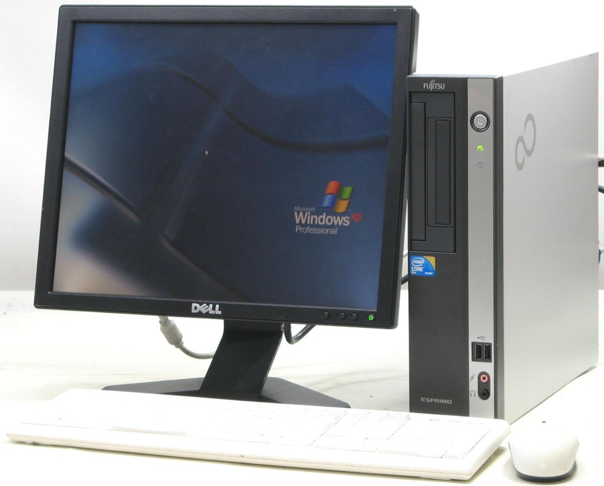 中古デスクトップパソコン 富士通 ESPRIMO D550/B FMVDF2A0E1■17液晶セット(富士通 WindowsXP)【中古】【中古パソコン/中古PC】