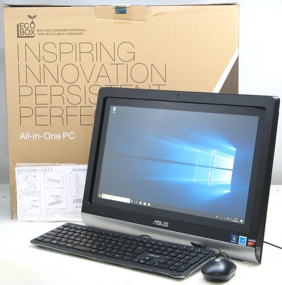 中古デスクトップパソコン ASUS ET2020AUTK-B002D■19.5液晶一体型(アスース エイスース Windows10 HDMI出力端子 グラフィックボード DVDスーパーマルチドライブ)【中古】【中古パソコン/中古PC】
