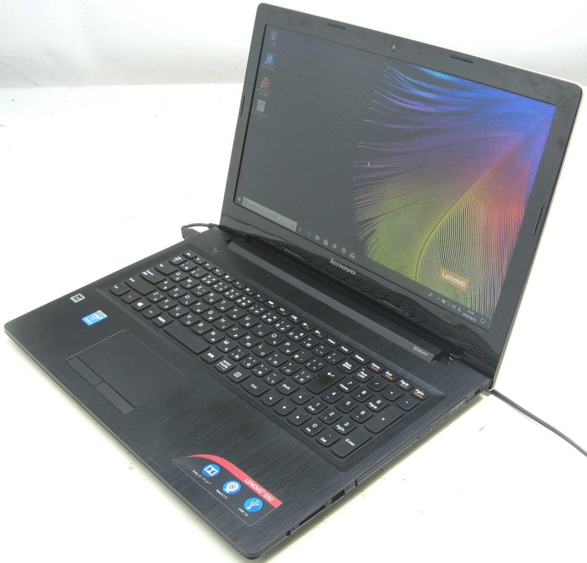 中古ノートパソコン Lenovo G50 80E5(レノボ IBM Windows10 Corei5 15.6インチ HDMI出力端子 DVDスーパーマルチドライブ)【中古】【中古パソコン/中古PC】