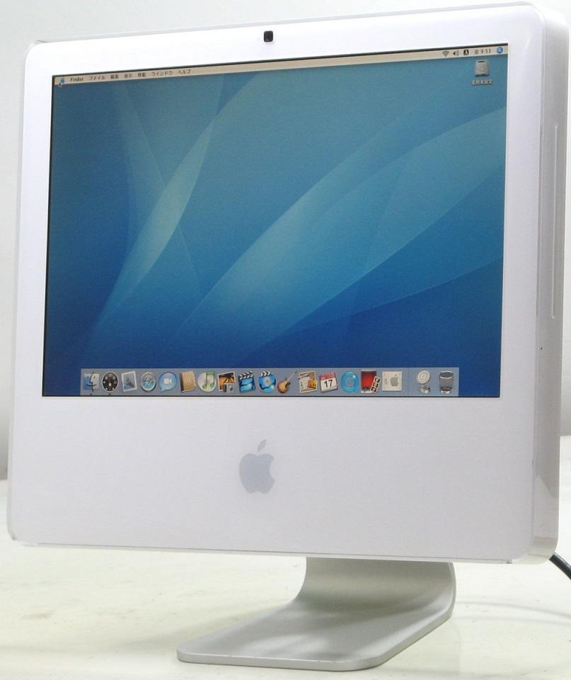 Apple iMac MA406J/A(アップル マック マッキントッシュ HDD80GB メモリ1GB Mac OS 10.4.11)【中古】中古MAC