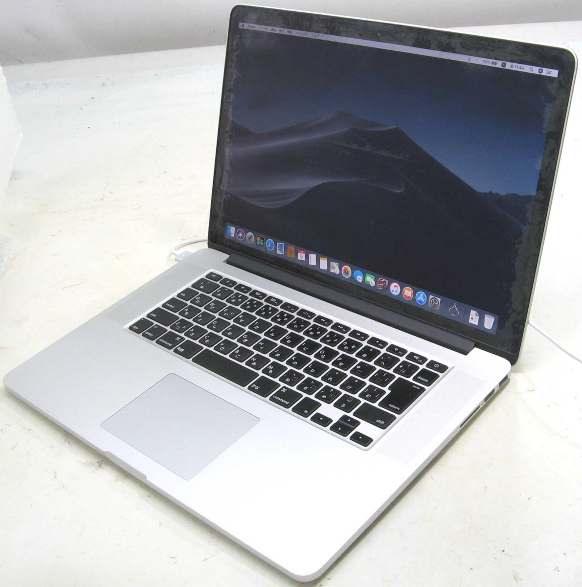 Apple MacBook Pro ME664J/A(アップル マック マッキントッシュ Corei7 SSD512GB メモリ8GB HDMI出力端子 グラフィックボード GeForce Mac OS 10.14.1)【中古】中古MAC