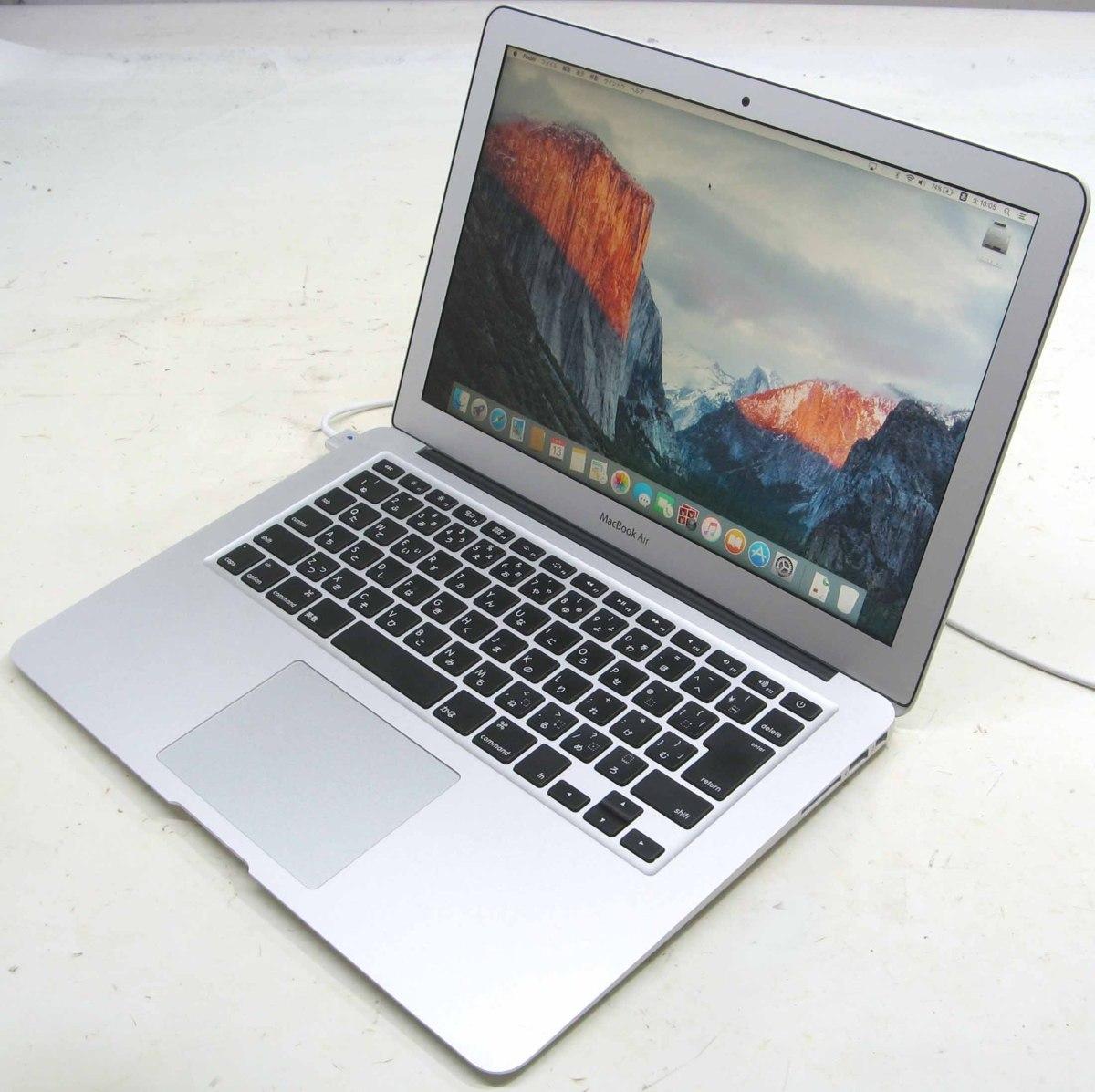 Apple MacBook Air MD761J/A(アップル マック マッキントッシュ Corei7 13.3インチ SSD256GB メモリ8GB Mac OS 10.11.6)【中古】中古MAC