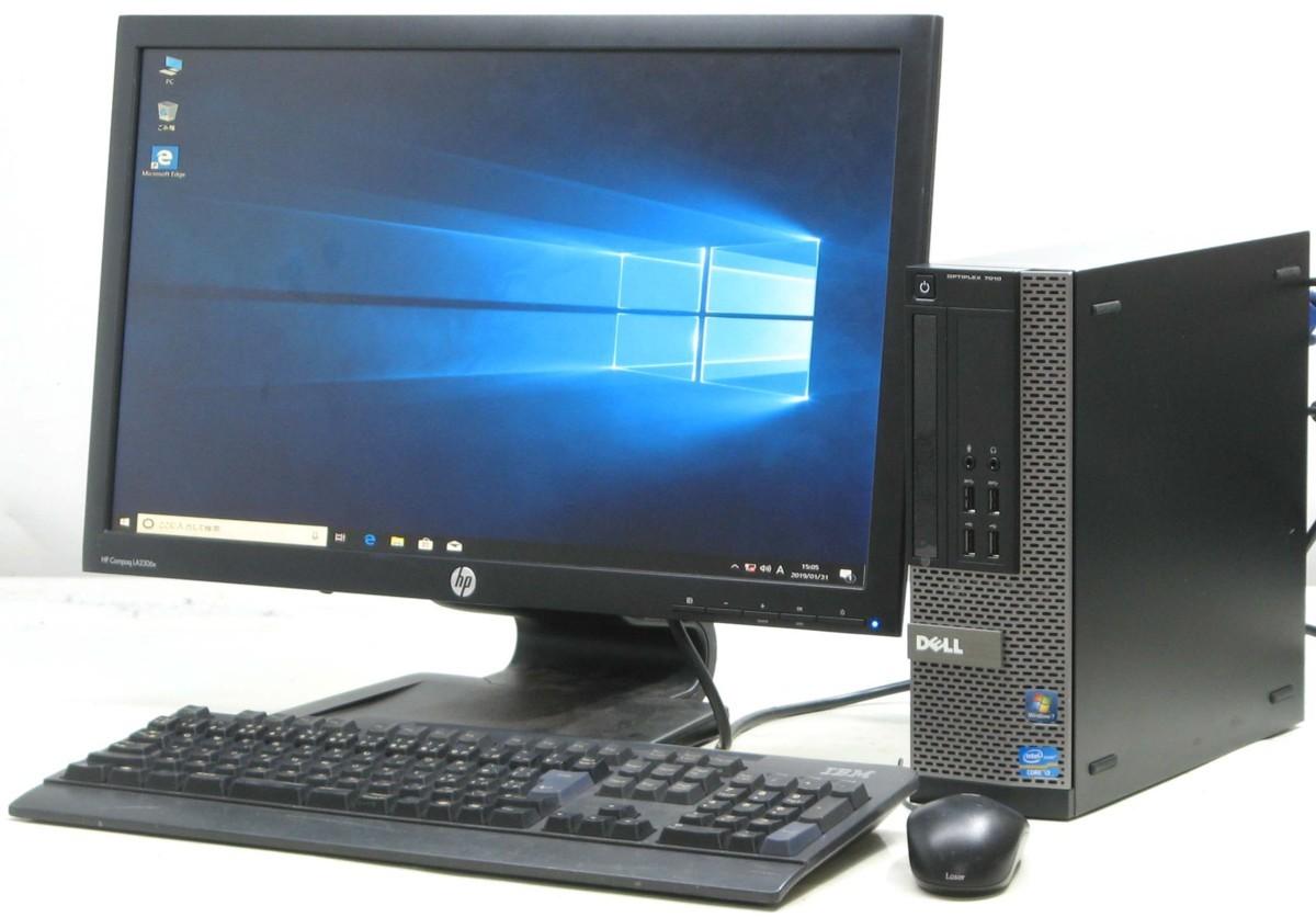 中古 デスクトップ パソコン DELL Optiplex 7010-3220SF 23インチ 23型 液晶モニター セット(デル Windows10 Corei3)【中古】