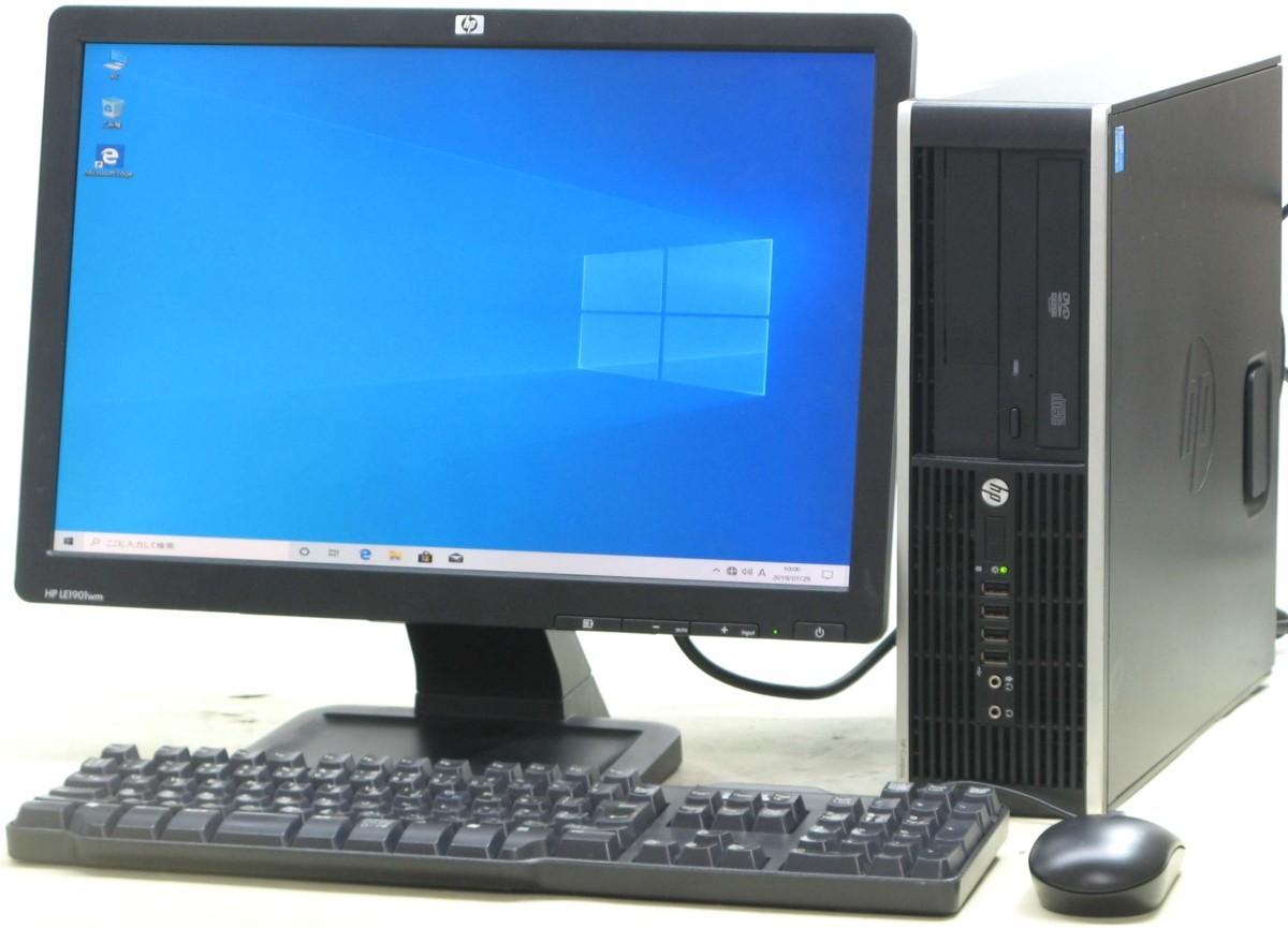 中古デスクトップパソコン HP Compaq 6300Elite SFF-3470 19W液晶セット ヒューレット・パッカード Windows10 Corei5 メモリ4GB SSD128GB グラフィックボード 中古パソコン 中古PC