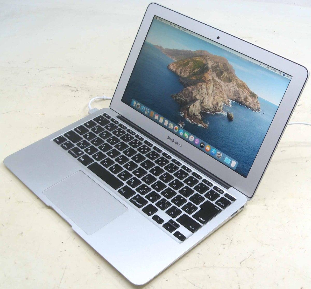 Apple MacBook Air MJVP2J/A Corei5 1.6GHz 4GB SSD256GB 11.6インチ Mac OS 10.15 無線 Bluetooth Webカメラ アップル マック マッキントッシュ 中古パソコン 中古MAC