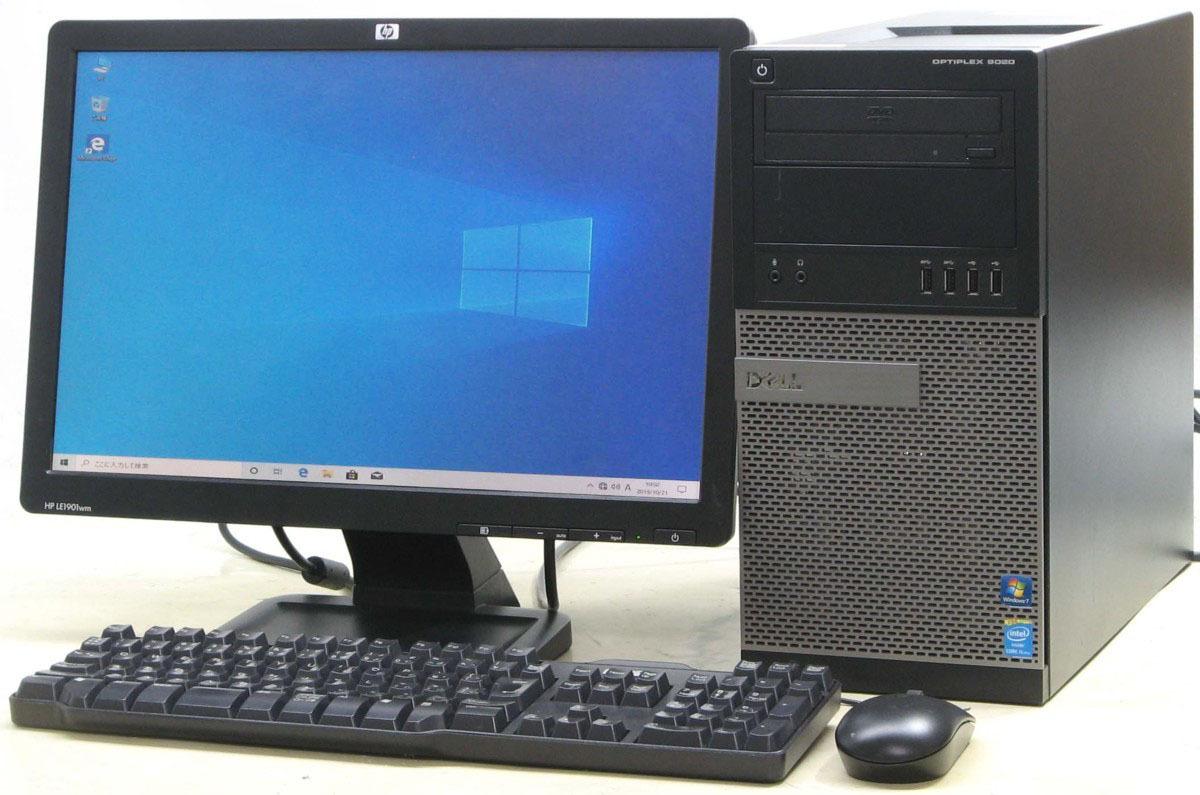 【初期設定済み!すぐ使える】 中古 パソコン デスクトップ 19型 19インチ 液晶モニター セット デル DELL Optiplex 9020-4570MT Windows10 Corei5 メモリ4GB HDD1TB 中古PC 【中古】