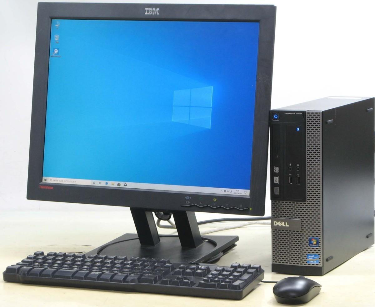 DELL Optiplex 3010-3220SF■20液晶セット Corei3 デル Windows 10 メモリ4096MB DVDスーパーマルチ【HDMI出力端子】【中古パソコン】【中古】