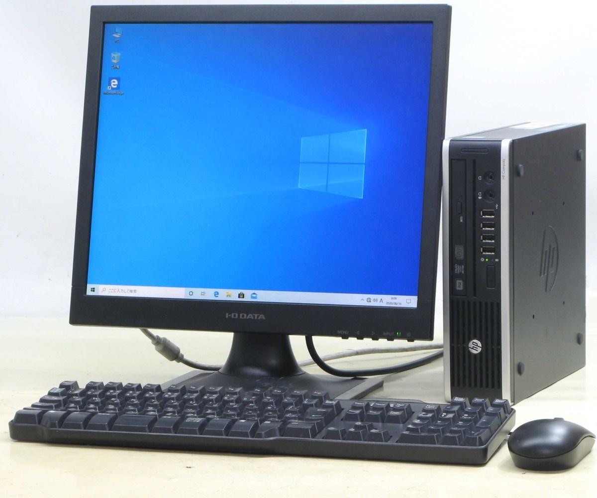 中古 パソコン デスクトップ PC ヒューレットパッカード HP Compaq 8300Elite USDT-3470S 17インチ 17型 液晶モニターセット Corei5【中古パソコン】【中古】