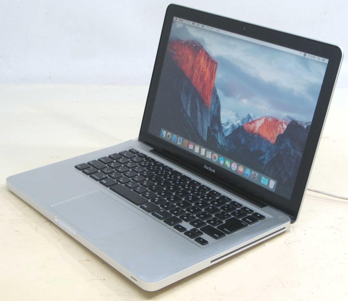 ノートパソコン アップル マックブック Apple MacBook MB466J/A Core2Duo 2.0GHz メモリ4GB HDD160GB 中古Macintosh 中古 ノート PC 【中古】