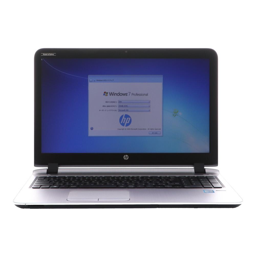 [A4ノート]ProBook 450 G3(T3M17PT#ABJ/Win7 10DG) HP Core i5-2.3GHz(6200U)/4G/500G/DVDマルチ/15.6/マウス 2016年頃購入 [Cランク] [中古]