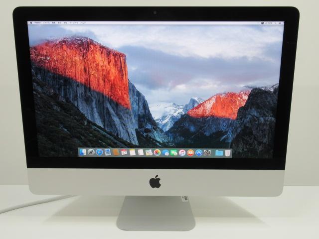 デスクトップ 国際ブランド 在庫処分セール iMac 21インチ MK442J A:MacOS 10.11 Apple Core 21.5FHD 中古 1TB 美品 2016年頃購入 開店祝い 8GBメモリ Webカメラ i5-2.8GHz