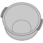 SHARP 純正内釜 ■新品 純正部品コード:2343800312 ◆シャープ(ヘルシオ炊飯器)用◆◆ヘルシオ炊飯器用内釜