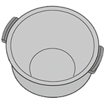 SHARP 純正部品コード:2343800314 ◆シャープ(ヘルシオ炊飯器)用◆◆ヘルシオ炊飯器用内釜 ■新品 純正内釜