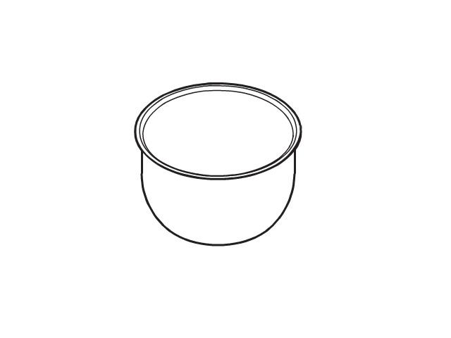 ☆パナソニック(Panasonic)☆ 炊飯器 内釜部品コード:ARE50-F57 純正部品 消耗品