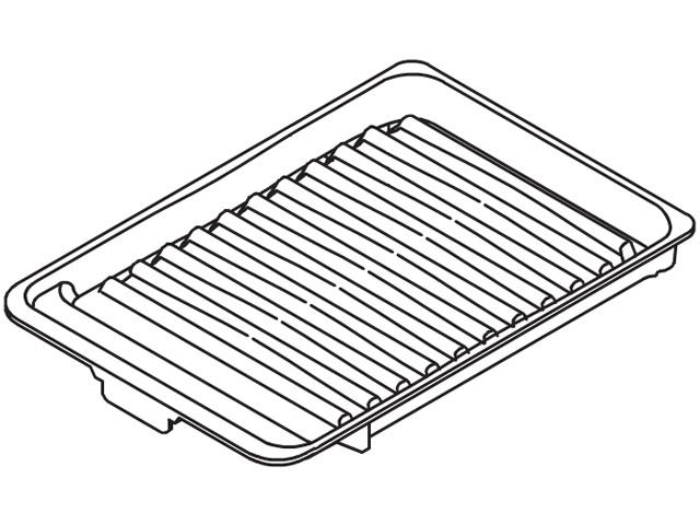 ☆パナソニック(Panasonic)☆ IHクッキングヒーター用 ラクッキングリル専用グリル皿部品コード:AZU50-D68 純正部品 消耗品