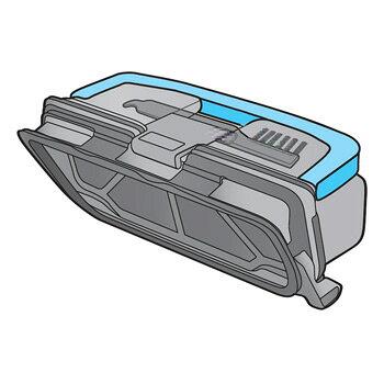 パナソニック Panasonic LURO ルーロ ダストボックス Panasonic パナソニック ロボット掃除機用 ダストボックスカンセット(お手入れブラシ付)部品コード:AMV00K-JS0V⇒AMV00K-LS0V