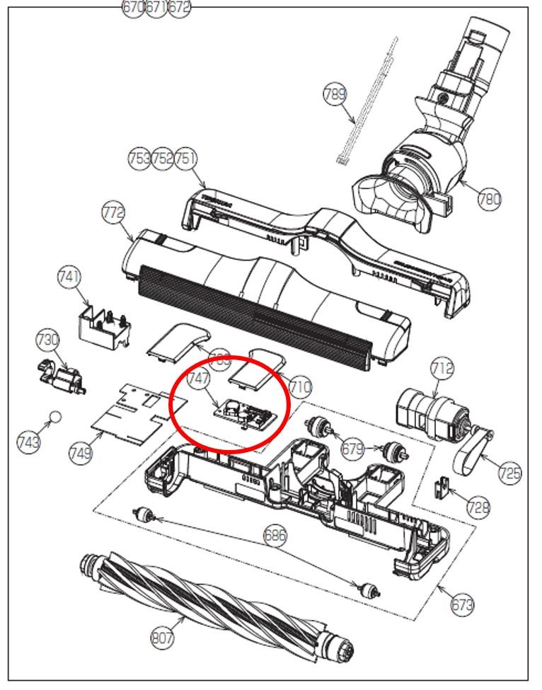 ブラシ基板組み立て 新作 大人気 交換部品 新作通販 TOSHIBA 東芝 掃除機 宅コ 4145H863