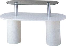 ガラス2段テーブル R型 W1500