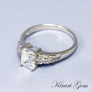 [KirariGem]指輪 OCTカットホワイトキュービックジルコニア