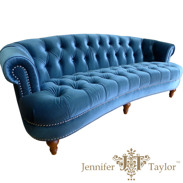 Jennifer Taylor Sofa Importers Home Furniture Outlet Jennifer Taylor 3  Person Seat La Rosa Blue