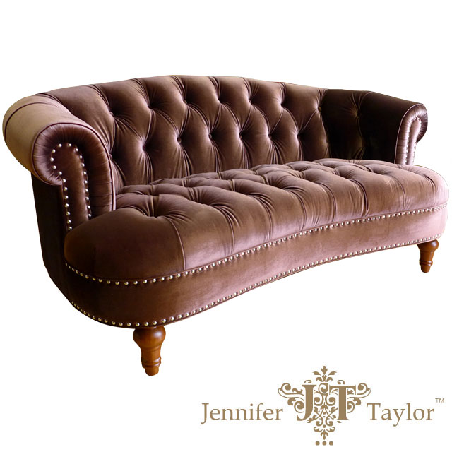 USA Furniture Outlet Jennifer Taylor Two Seat Sofa La Rosa Brown