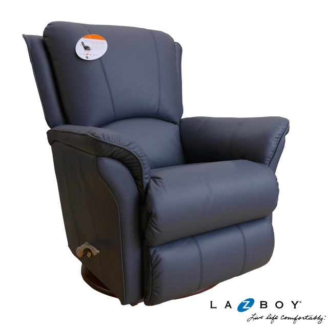 リクライニングチェア 本革 リクライニングソファ 一人用 回転式 総本革 レザー 紺 ネイビー ソファー 一人掛け ロッキングチェア ロッキング 機能付 高級 手動 おしゃれ オットマン アメリカン レイジーボーイ LAZBOY 501 MARTINI
