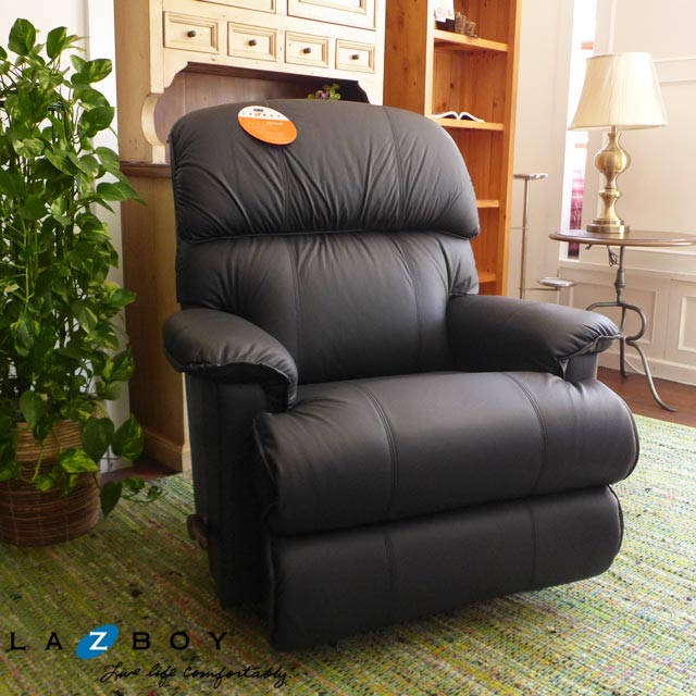 Superieur Outlet Imported Furniture Lazy Boy One Seat Rocking Recliner 550 Total  Leather Upholstery Black