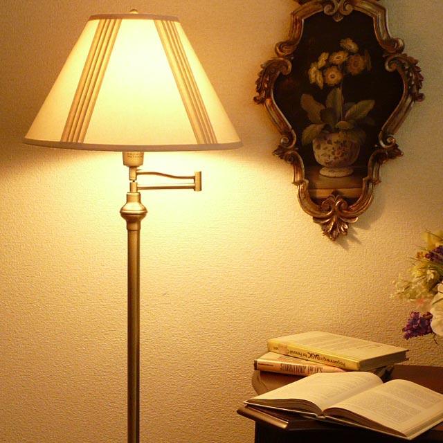 スタンドライト フロアライト モダン スタンドランプ アンティーク ランプ ライト フロアランプ フロアスタンドライト アンティーク調 おしゃれ ベッドランプ ベッドサイド 高級 寝室 クラシック テイスト LED シェード シェードランプ アメリカン 照明 314FLAB CALlighting
