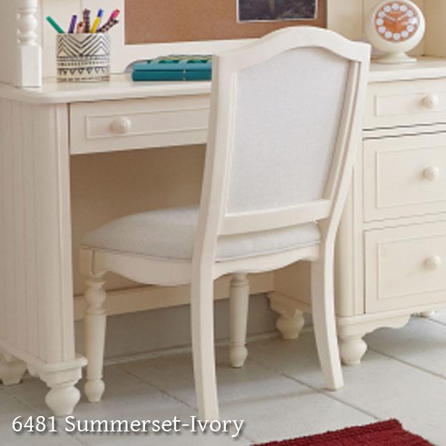 アメリカ 家具 エレガント な雰囲気 ホワイトチェア チェア 6481 Summerset-Ivory 絶品 椅子 白 ホワイト アンティーク アンティーク調 輸入 白家具 学習チェア Legacy社 子供 かわいい いす クラシック テイスト おしゃれ キッズ 低廉 イス 姫系 木製