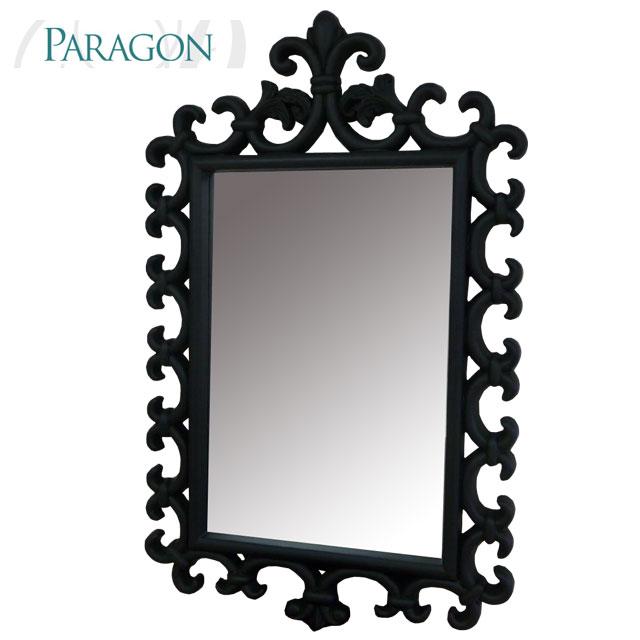 アウトレット 輸入家具 ブラックフレームミラー 8764 PARAGON
