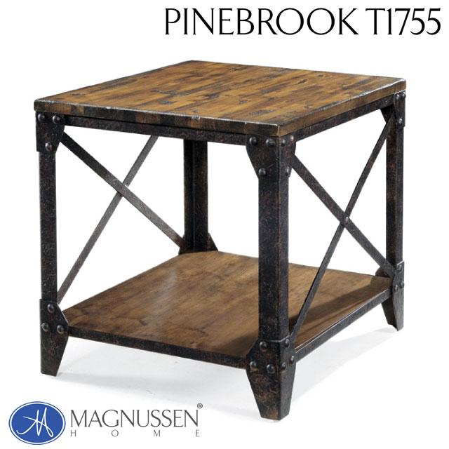 サイドテーブル アンティーク ヴィンテージ おしゃれ かっこいい アウトレット 輸入家具 エンドテーブル T1755-03TC Pinebrook