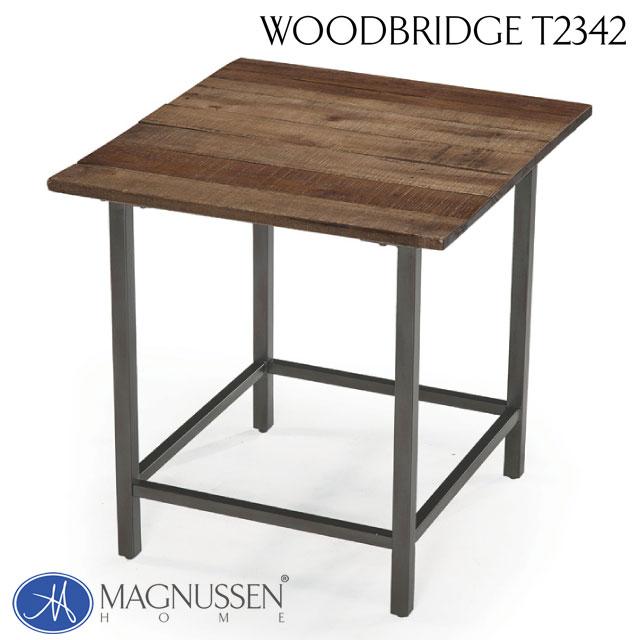 【 見切り品 在庫処分 】 サイドテーブル ランプテーブル インダストリアル メタル&木製 アメリカ MAGNUSSEN社 アンティーク ヴィンテージ おしゃれ かっこいい アウトレット 輸入家具 エンドテーブル T2342-03TC Woodbridge