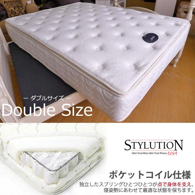 【ベッド同時注文専用】アウトレット 輸入家具 マットレス Pillow Top ダブル STYLUTION