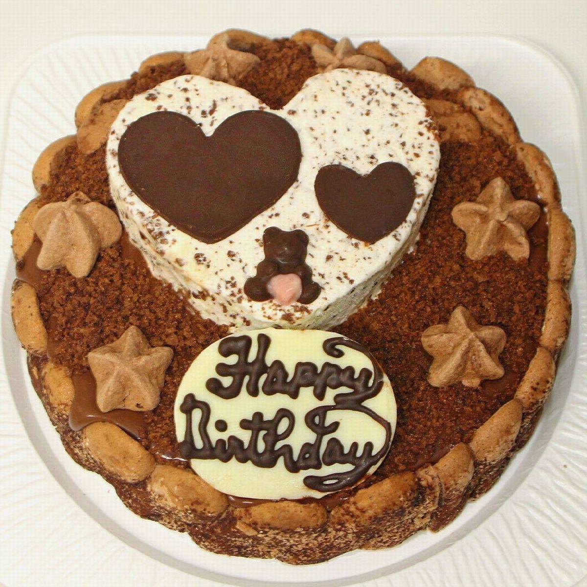 誕生日ケーキ・バースデーケーキ・アニバーサリーケーキに!  ハートチョコアイスケーキ 誕生日 バースデー 記念日 ギフト プレゼント チョコケーキ デコレーション 子供 女性 人気スイーツ かわいい メッセージ インスタ栄え サプライズ オリジナル ハートケーキ