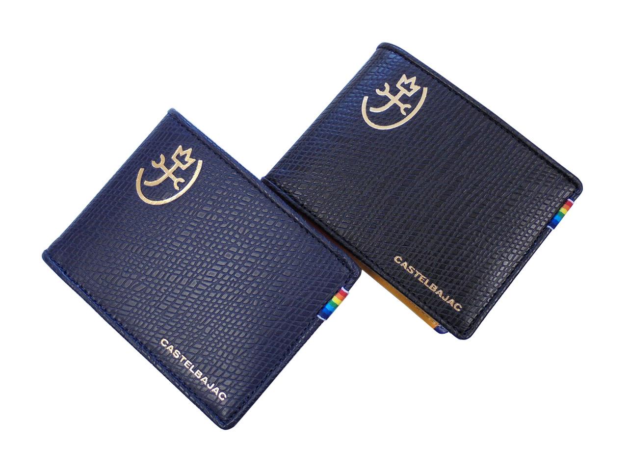 CASTELBAJAC カステルバジャック お気にいる レインボー ついに入荷 メンズ 小銭入れあり 二つ折り財布 079613